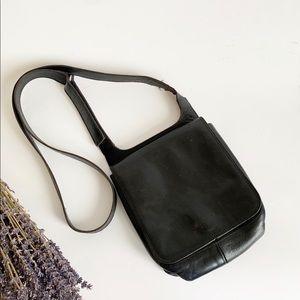 Vintage Black Stone Ridge Crossbody Mini Bag